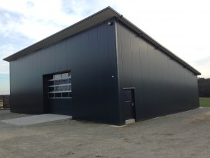 Neue Produktionshalle Eigenbau aus Stahl